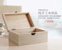 Wholesale Vintage Wood Lock Box - Wholesale- Vintage Wooden Trinket Jewelry Box With Exquisite Lock Storage Rings Women Organizer Gift