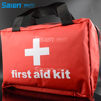 Backpacking sport kit bags - Compact First Aid Medical Kit Home Sport Work Camping Hiking Boat Survival Traveling and Car First Aid Bag