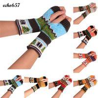 Wholesale Knit Opera - Wholesale- Echo657 Fashion Christmas Knitted Arm Fingerless Winter Gloves Unisex Soft Warm Mitten Oct 17