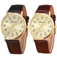 Wholesale Mens Watch Brands List - Wholesale- 2016 latest listing fashion men women famous brand watches Woman Mens Retro Design Leather Band Analog Alloy Quartz Wrist Watch
