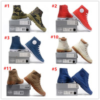 Wholesale Cheap Black High Heeled Boots - 2017 Hot Sale! Brand Palladium Style Mens High Top Shoes New Homme Outdoor Comfortable Ankle Boots Hiking boots Cheap Size EUR 40-45