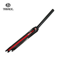 TMAEX-Full Carbon Road Fork Forcella 1-1 / 8 in 28.6mm Parti per bici Solo 360g Superlight Forks forche Fixed Gear Fork Rosso