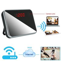 Wholesale Records Wireless Networks - 32GB P2P 1080P HD WIFI Network Camera Clock Indoor Motion Activated IP DV Hidden Camcorder Support APP Remote View Loop Video Recording
