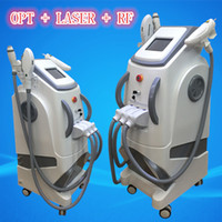 Wholesale Ipl Hair Removal Beauty Equipment - Multi Function Beauty Machine SHR Tattoo Removal nd YAG laserwith OPT E- light IPL RF equipment