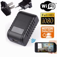 WIFI 1080P HD Spy Carregador Câmera IP EU EU Adaptador AC Plug Hidden Camera USB Wall Charger Camera Nanny Cam Para Home Office