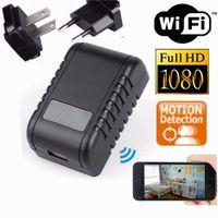 Wholesale Hidden Cam For Home - WIFI 1080P HD Spy Charger IP Camera EU US AC Adapter Plug Hidden Camera USB Wall Charger Camera Nanny Cam For Home Office