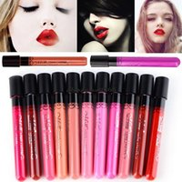 ingrosso lipgloss brillante-All'ingrosso-Menow 1 PC Lip Makeup Set di colore scuro a lunga durata Opaco Impermeabile Lip Gloss Tatoo Tint Lipgloss Rossetto Bright Lip Stick Lot