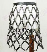 Wholesale Genuine Leather Skirts - Wholesale- Fashion dress girdle punk personality women hollow genuine leather waistband Nightclub sexy female skirt rivet bundled belts