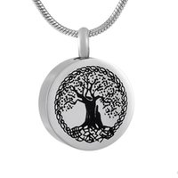 Wholesale Selling Infinity Necklace - 9795 Infinity Tree Cremation Jewelry Stainless Steel Funeral Ashe Urn Pendant Hot Selling Fashion Design