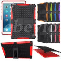Wholesale Ipad Tpu Pc Case - Armor Rugged PC TPU Hybrid Case Impact Shock Proof Kickstand iPad 2 3 4 5 6 Mini Air Pro 9.7 12.9