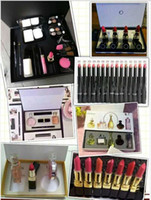 Wholesale Christmas Mascara - makeup listick sets pack Cosmetic Set Makeup medium Mascara Eyeliner Lipstick Lip Gloss blush BB cream puff Cosmetic Set with brand CC DI