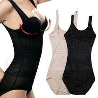 Wholesale Tummy Control Underbust Tops - New Women Thin Waist Cincher Underbust Tummy Corset Full Body Control Shaper Slimming Bodysuit Tops Underwear