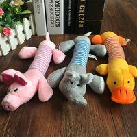 Wholesale Favorite Cartoons - 2017 hot sale Dog Toys Fashion lovely Stripe Pigs ducks elephants interesting Plush toys dog's favorite Sound Toys