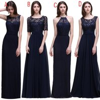 Wholesale Sheer Halter Bridesmaid Dress - 2017 Mix Country Navy Blue Lace Bridesmaid Dresses Under 50 Cheap Jewel Halter Sheer Slim-Fitted Long Bridesmaids Maid Of Honor Prom Gowns