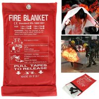 Wholesale Extinguisher Fire - 1MX1M Fire Blanket Emergency Survival Fire Shelter Fire Extinguishers Tent
