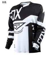 Wholesale Motocross Motorcycle Jersey - 2017 ciclismo jersey manga comprida t-shirt quick dry camisa de moto DH AM Bicicleta Jersey Mutil Cor Pano de Bicicleta motocross motos mx