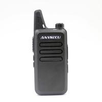 Wholesale Security Radio Walkie Talkie - AC-U2 Mini Walkie Talkie with Headset 400-470Mhz Frequency UHF Handheld Radios Intercom Two Way Radio Security Equipment