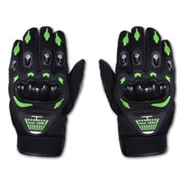 Wholesale Mountain Bike Full Finger Green - Hot Sale Mountain Bike Cycling Gloves Outdoor Sport Fitness Hiking Full Finger Gloves Skidproof Motorcyle Cycling Gloves Red Green Orange