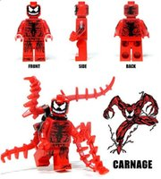 spider man carnage - Carnage Movie Spider Man SUPER HEROES THE AVENGERS Assemble Minifigures Model DIY Building Blocks Kids Toy Gift