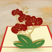 orchid invitations - 10pcs Laser Cut Wedding Invitations d Butterfly Orchid Pop Up Card Birthday Greeting Cards