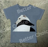 Wholesale Cool Vintage Shirts - Track Ship+Vintage New Retro Vintage Cool T-shirt Top Tee Two Lovely Elegant Smart Pet Whippet Dog Hug Together 1355