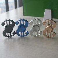Dollari USA Symbol Hand Spinner 4colors Triangolo Fingertips Spiral Dita Gyro Torqbar Fidget Spinner Decompression Toys