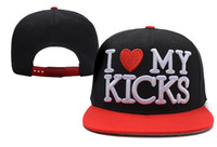 Amore I Love My Kicks Snapbacks Cap Hat Hat Trucker Pop Hip Hop Snapback Uomini Donne Donne Summer Beach Sun Cappelli Cool Party Caps