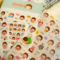 Wholesale korean style notebooks for sale - Group buy Wholesales Sheets Pack Momoi Girl Ver2 DIY Korean Style Notebook Paper Sticker For Notebook Scrapbooking Mobile Phone