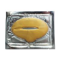 membrana de máscara de labios de cristal de colágeno al por mayor-Nuevas mujeres Lady Lips Care Gold Sexy Crystal Membrane Collagen Moisture Essence Máscaras de labios