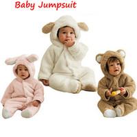 Hot neonato vestiti in pile autunno inverno ragazzi ragazze pagliaccetto  neonato vestiti del bambino meninas orso giù tuta tuta per 0-12 mesi 6e9dd936c80
