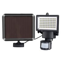 60LED Solar Powered PIR Capteur de mouvement du corps Lumières solaires Lampe Mur Voie de garage Garden Light Outdoor Security Flood Light