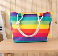 Wholesale Korean Handbags For Women - Single shoulder canvas fashion summer beach bag whole sale big volume koren style handbag for women girl GL-WB01
