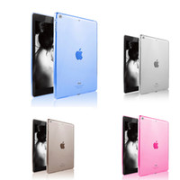 Wholesale Ipad Fitted Cases - High Quality Soft TPU Case for iPad Air Transparent Slim Rubber Skin Fitting Wrapping Back Cover for Ipad 5 Air