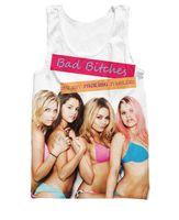 Wholesale Bad Girl Sexy - Wholesale- Women Men Fashoin Summer Shirt Bad Breakers Tank Top Sexy Girls Vest Stars 3d Print Tanks