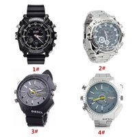 Wholesale 4 Styles GB GB GB HD x1080P Spy Camera Watch Wearable DV Portable Camcorder with Voice Recording