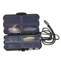 Wholesale bait knives online - Fishing Tackle Box Fly Fishing Box Spinner Bait Minnow Popper Compartments Fishing Accessories for