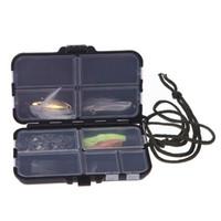 рыбалка мухи бесплатная доставка оптовых-Коробка для рыболовных снастей Fly Fishing Box Spinner Bait Minnow Popper 9 Отсеков Рыболовные принадлежности для бесплатной доставкой