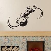 ingrosso adesivi design cinese-Cinese Yin Yang Wall Stickers Home Decoration Wall Art Stickers smontabili Decalcomanie in vinile per la progettazione della parete