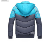Wholesale Mens Down Padded - NK Winter Mens Jackets Coats Outerwear Cotton Padded Jacket Lover's Sport coat Hooded Padded Size M-XXXL 3 Colors 2017 Winter Hot Selli