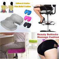 Wholesale Office Seat Pad - Beauty Buttocks Massage Cushion Memory Sponge U Seat Cushion Slow Rebound Office Chair Pad Back Pain Sciatica Relief Pillow 50pcs OOA3005