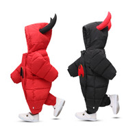 Wholesale Wholesale Organic Baby Rompers - Baby clothing boy rompers kids clothes cartoon monster down cotton climbing suit winter thickening boys and girls jumpsuits