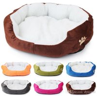Wholesale Cat Houses Oval - 2017NEW Super Soft Small Dog Cat Bed Pet House Mat Camas De Perros Cheap Dog Kennel Indoor Cama Perro 6 Colors Free Shipping