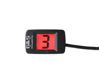 Wholesale Digital Universal Gear - Motorcycle Universal LCD Digital Gear Indicator Display Shift Lever Sensor Super thin display designed with high technology Red