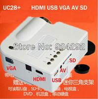 Wholesale Cheapest Micro Sd - Wholesale-World's cheapest mini led micro projector 60lumens,New HDMI Port upgrades,original factory supply USB+SD+VGA+HDMI lcd projector