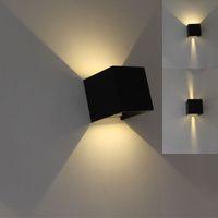 lampe murale chambre à coucher achat en gros de-a mené la lumière de mur 85-265v 7w 12w IP65 imperméable à l'eau de chambre à coucher chevet lumière salon balcon allée mur lampe mordern conçoit simple