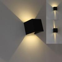 oturma odası duvar lambaları toptan satış-led duvar ışık 85-265v 7W 12w IP65 su geçirmez Yatak Başucu Işık Salon Balkon Koridor Duvar Lambası basit tasarımlar Mordern
