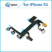 Wholesale Lock Parts Wholesale - Original Quality New Power Lock Volume & Mute Button Switch Flex Cable for iPhone 5G Repair Parts