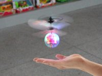 Wholesale Rc Dhl - 2017 New Fashion Children Flying RC Ball Led Flashing Light Aircraft Helicopter Induction Toy DHL FEDEX Free Shipping