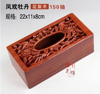 Wholesale Tissue Box Promotions - Wholesale- 2016 Promotion Annatto tissue box european-style originality cartons hollow out Mr Contracted Hua limu napkin bins