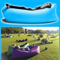 Wholesale Fleece Lounge - Lay Bag Sleeping Bag Fast Inflatable Camping Air Sofa Sleeping Beach Bed Banana Lounge Bag Laybag